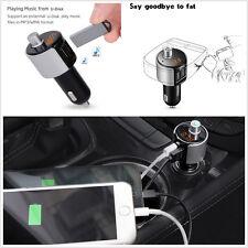 Bluetooth transmetteur fm radio adaptateur récepteur 2-USB prend en charge usb flash drive