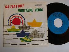 """LELLA E CORO : Salvatore / Montagne verdi  7"""" SP 1970 Italian OMEGA OMG 630"""