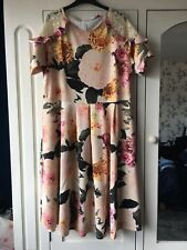 BNWT PINK FLORAL MIDI DRESS SIZE 20 V BY VERY