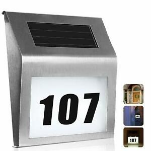 House Numbers Sign Solar Powered LED Address Number Light for Home Yard Street
