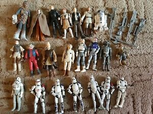 Vintage star wars figures bundle. Inc Luke skywalker Anakin and Chewy
