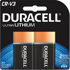 2 Pack Duracell CRV3 CR-V3 3-Volt Lithium 3V Batteries Exp. 2024