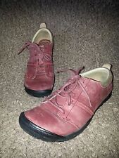 KEEN-Delancey Hiking Trail Shoe-Red/Maroon Leather-Size 39.5 US Size 9-Excellent