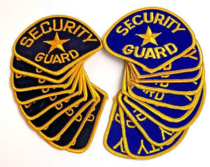 Lot of 18 Security Iron-On Uniform Guard Shoulder Patches black & blue iron-on