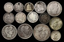 Set of 14 US silver coins 1821-1945