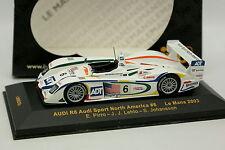 Ixo 1/43 - Audi R8 Audi Sport North América Le Mans 2003 N°6