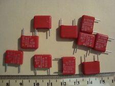 10 Wima metallisierter poliéster-condensador mks2 5/% 63v 0,68uf 5mm 030871