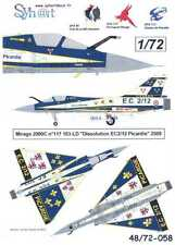 "Syhart Decals 1/72 French MIRAGE 2000C ""Dissolution EC2/12 PIcardie"" 2009"