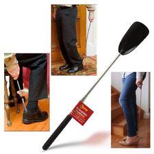 EXTENDABLE BLACK METAL SHOE HORN HANDLE LONG REMOVER HANDHELD SHOES EASY GRIP