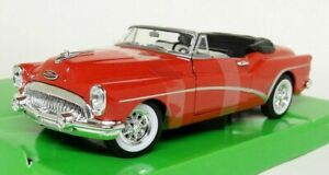 Welly 1/24 ,Buick Skylark 1953 Open Top - Red  , Classic Metal Model Car