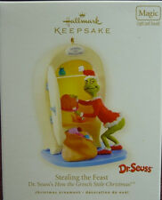 * 2008 * STEALING THE FEAST GRINCH  Hallmark Ornament DR SEUSS Magic Light Sound