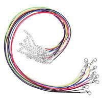 30x Mehrfarbig Lederkette Halskette Lederband Kette mit Karabiner Edelstahl N2Z6