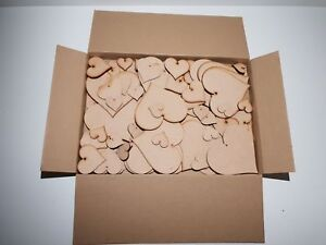 HUGE Clearance Wholesale Joblot Laser Cut Wooden MDF Love Heart Craft Shapes SF1