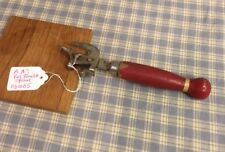 """Vintage Tool Can Bottle Opener Wood Handle Marked A&J 6 1/2"""" Long (031005)"""