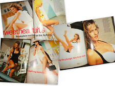 Vtg clippings Mademoiselle 1991 Karen Mulder swimsuit model vogue elle glamour