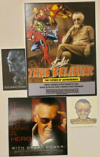 STAN LEE True Believer WITH GREAT POWER movie One-Sheet Tattoo Cards Promo Items