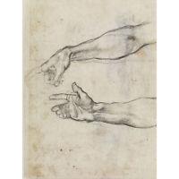 Michelangelo Fresco Noah Sistine Chapel Sketch Huge Wall Art Poster Print