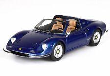 Ferrari Dino 246 Gts Spider 1969 Blue Metallizzato BBR 1:43 BBRC54G Model