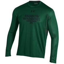 """Hawaii Warriors Under Armour Ncaa """"Post Route"""" Performance L/S Shirt"""