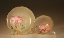 Shafford China Handpainted Pink Orchids Cup and Saucer, Japan