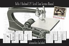 """Delta/Rockwell 24"""" Scroll Saw Owners Service Manual Parts Lists Schematics etc."""