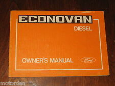 Ford ECONOVAN Diesel Toyo Kogyo Japan, OWNER MANUAL BOOK 1981 UNUSED, FREE POST