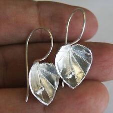 Leaf Earrings Pure Silver Thai Karen Hill Tribe