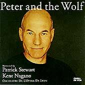 Peter and the Wolf Narrated by Patrick Stewart (CD, Jan-1994, Erato (USA) MINT