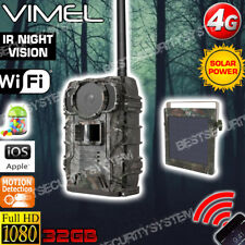 4G Trail Camera Owlzer Solar Powered Farm House Remote View Wireless Hidden 3G