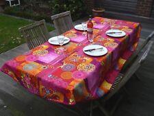Nappe de Table Provence 150x240 Cm Ovale Rose Fleurs France, Facile à Entretenir