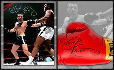 George Chuvalo Signed Everlast Boxing Glove & Fight vs Muhammad Ali 8x10 Photo