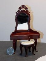 Dollhouse Miniature Dressing Table Mirror Vanity 1:12 scale K33 Dollys Gallery