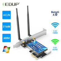 EDUP Dual Band AC600 PCI-E Network Card WiFi Adapter Wireless Bluetooth Adapter