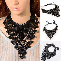 Women Gothic Victorian Steampunk Queen Party Lace Collar Choker Necklace New