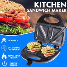 Kitchen Sandwich Maker Non Stick Bread Toastie Breakfast Baking Machine 750W
