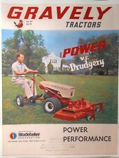 Gravely 1963 L LI LS Two-Wheel Lawn Garden Tractor COLOR Sales Manual 20pg 6.6hp