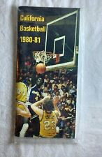 1980 - 81 California Basketball Program Media Guide NEW in package N 1