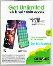 Cricket Wireless Alcatel PULSEMIX + SNAPBAK LightUp Smartphone New Sealed