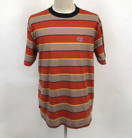 Obey Men's Knit Box T-Shirt Burn Classic Picante/Tan Size M NWT Shepard Fairey