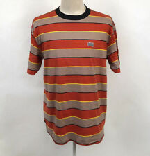 Obey Men's Knit Box T-Shirt Burn Classic Picante/Tan Size M NWT Shepard Fairey