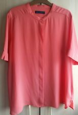 M&S Collection Coral Blouse Size 18UK/46EUR  Short Sleeves Preloved