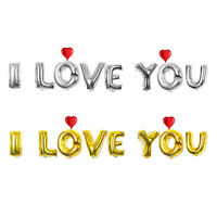 16 Inch I Love You Letters Foil Balloon Set Goer Valentines Day Party Decoration