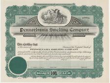 Pennsylvania Smelting Company Stock Certificate