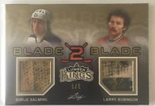 2016 Lumber King Borje Salming Larry Robinson Stick 1/1 Blade 2 Blade Leaf 16/17