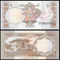 PAKISTAN 1 Rupee, 1983, P-27, Tomb, UNC World Currency