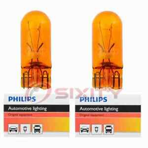 2 pc Philips Parking Light Bulbs for Plymouth Caravelle Gran Fury 1980-1989 yf