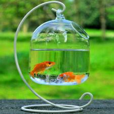 Clear Hanging Glass Aquarium Fish Bowl Tank Flower Plant Vase Decoration