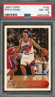 Steve Nash Phoenix Suns 1996 Topps Basketball Rookie Card RC #182 Graded PSA 8