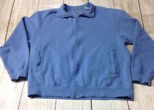 Orvis Lightweight Full Zip Men's Blue Cotton Jacket Large Preowned