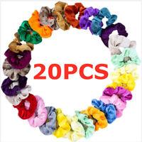 20pcs Hair Scrunchies Velvet Elastic Scrunchy Bobbles Hair Bands Holder Ties